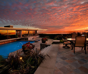 luxury, pool, and sky image