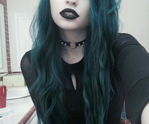 goth and blue hair image