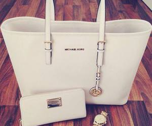 bag, white, and Michael Kors image