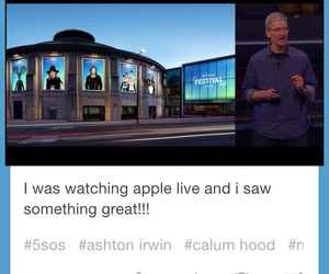 apple, luke hemmings, and 5sos image