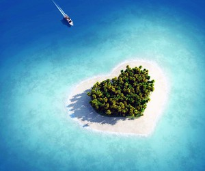heart, nature, and ocean image