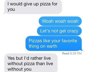 love, pizza, and couple image