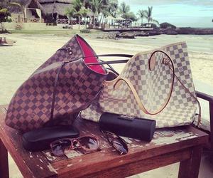 Louis Vuitton, bag, and beach image
