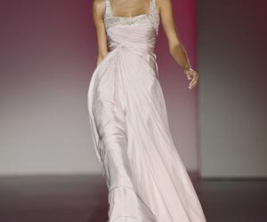 catwalk, dress, and model image