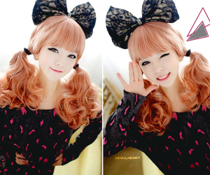 bow, hot pink, and sweater image