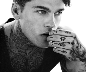 model, stephen james, and tattoo image