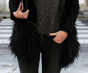 accessories, black, and fur image