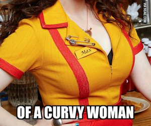 curvy body, max black, and 2 broke girls image