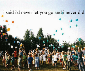 Lyrics, never let go, and quote image