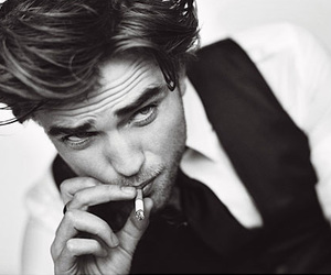 robert pattinson, Hot, and black and white image