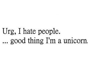 unicorn, people, and hate image