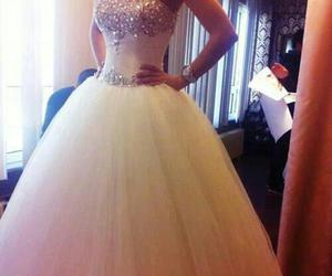 ball gown, wedding dress, and tulle skirt image