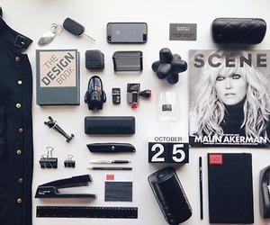 black, magazine, and notes image