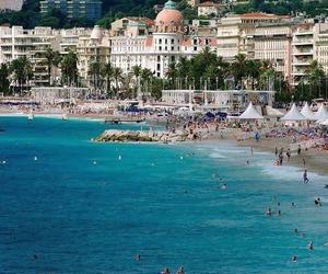 beach, beauty, and france image