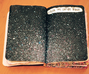 wreck this journal, art, and universe image