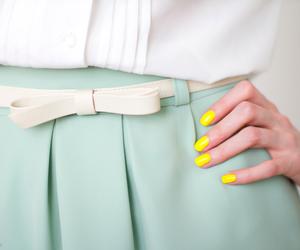 fashion, nails, and skirt image