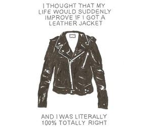 jacket, leather jacket, and leather image