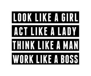 boss, lady, and man image