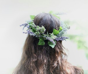 girl, lavender, and lilac image