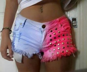 pink, pretty, and shorts image