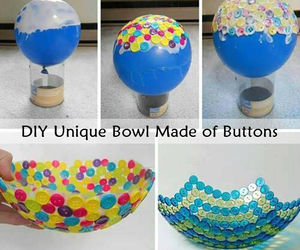 bowl, bowls, and buttons image