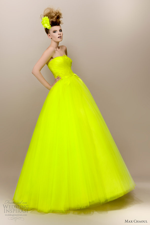Yellow wedding gown google search on we heart it junglespirit Images