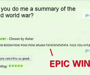 funny, yahoo answers, and 2nd world war image