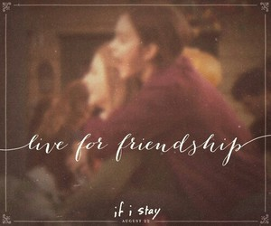 friendship, if i stay, and love image