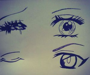 draw, eyes, and friendly image