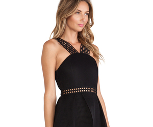 black, dress, and revolve image