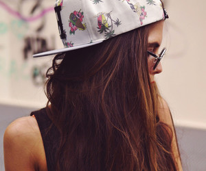 girl, hair, and cap image