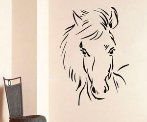 home decor, horse, and murals image