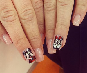 manicure, mickey, and mickeymouse image