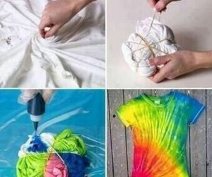 diy, tie dye, and shirt image