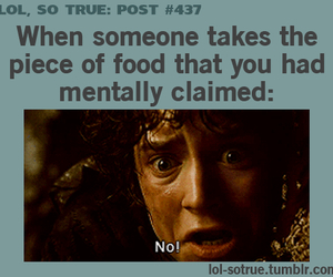 food, funny, and lord of the rings image