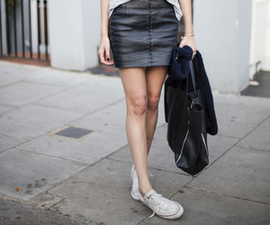 black, skirt, and outfit image