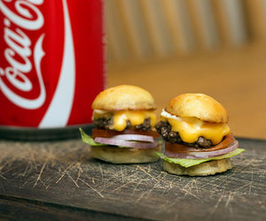burger, food, and coca cola image