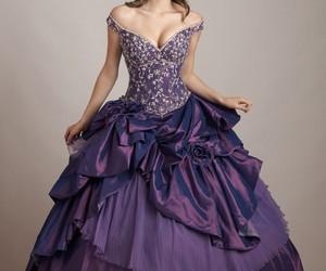 beautiful, love it, and purple wedding dress image