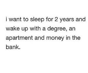 funny, money, and sleep image