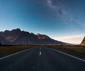 road, sky, and stars image