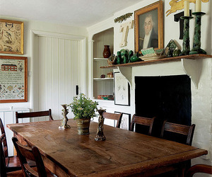 cottage, dining room, and rustic image