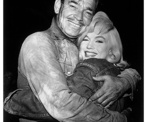 Marilyn Monroe, clark gable, and the misfits image