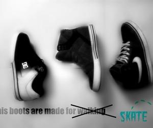 black, skate, and supra image