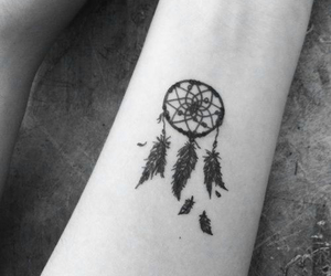 tattoo, dreamcatcher, and dream catcher image