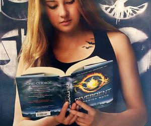 book, divergent, and read image