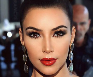 kim kardashian, makeup, and kim image