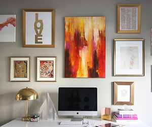 decor, room, and frame image