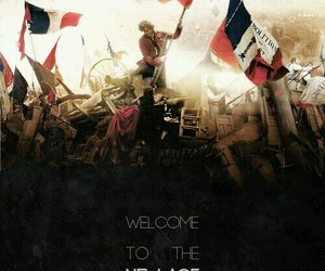 les miserables, radioactive, and enjolras image