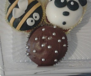 bees, chocolate, and cupcake image