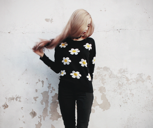 style, flowers, and grunge image